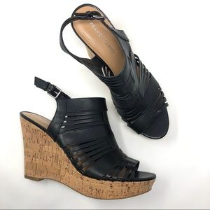 Franco Sarto 'Sharp' Wedge Sandal Black